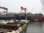 Судостроительный завод STX - передвижка судна по с