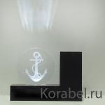 """Эксклюзив.Настольный прибор со светодиодной подсветкой """"Якорь"""" (подставка для ручек)"""